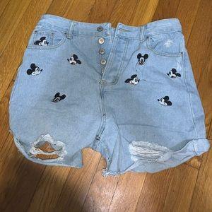 Denim Mickey Shorts